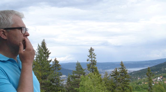 View of Drammen from the Konnerud mine with Torgeir
