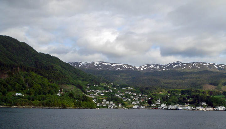 Skanevik from ferry