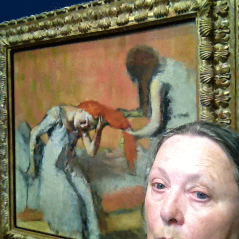 Selfie with a Degas