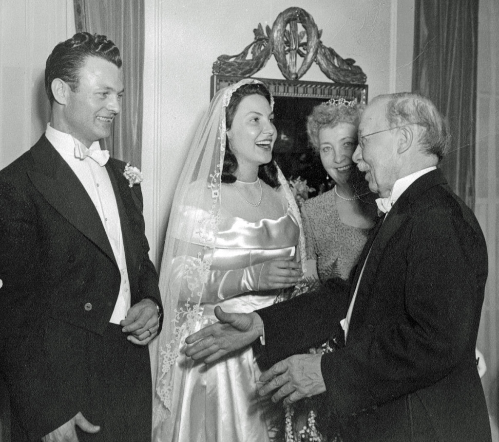 Larry and Gretchen wedding with her mother and his father