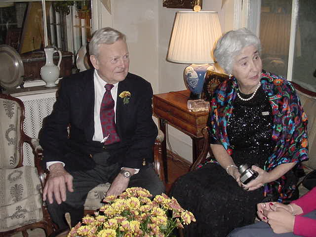 Larry Munson and Sister-in-law Trudi Beyer in 2000