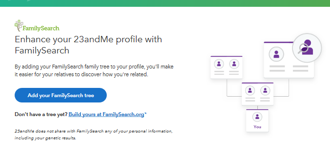 23andme Now Connects to the FamilySearch World Tree | Kitty